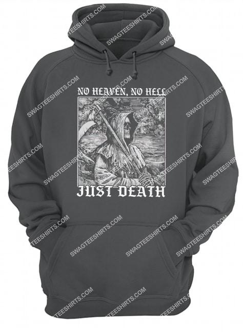 no heaven no hell just death satanic halloween hoodie 1