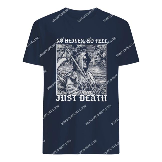 no heaven no hell just death satanic halloween tshirt 1