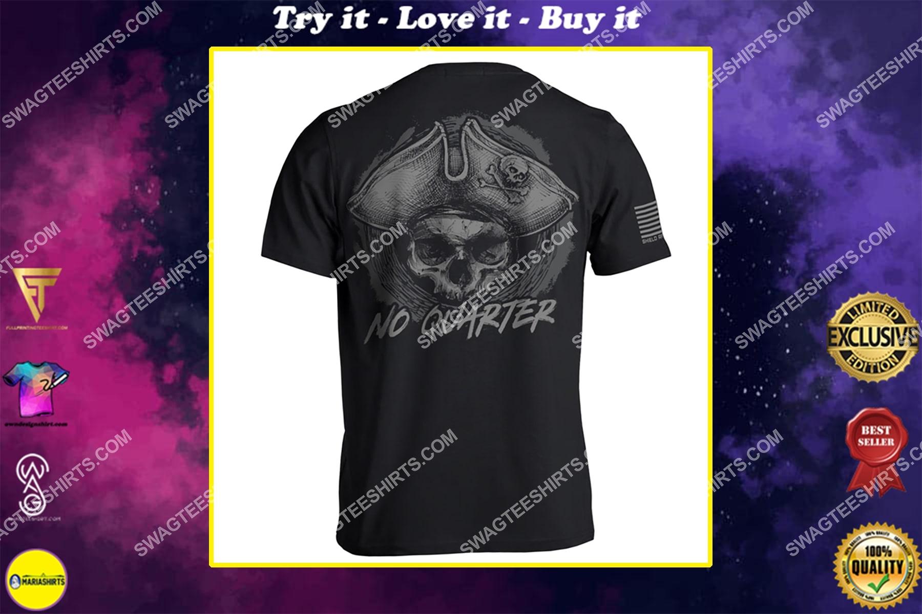 no quarter skull vintage full print shirt