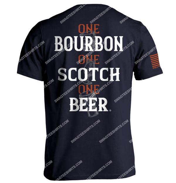 one bourbon one scotch one beer party summer shirt 3
