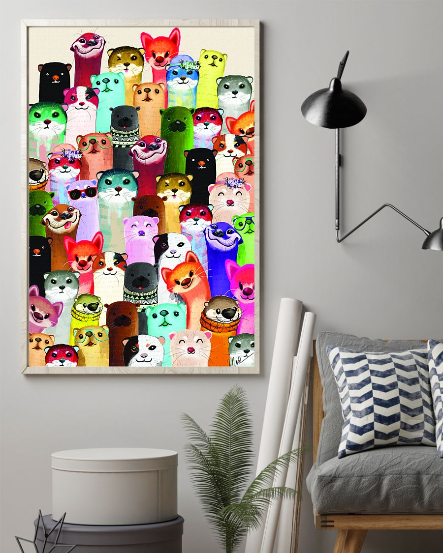otter colorful poster 2