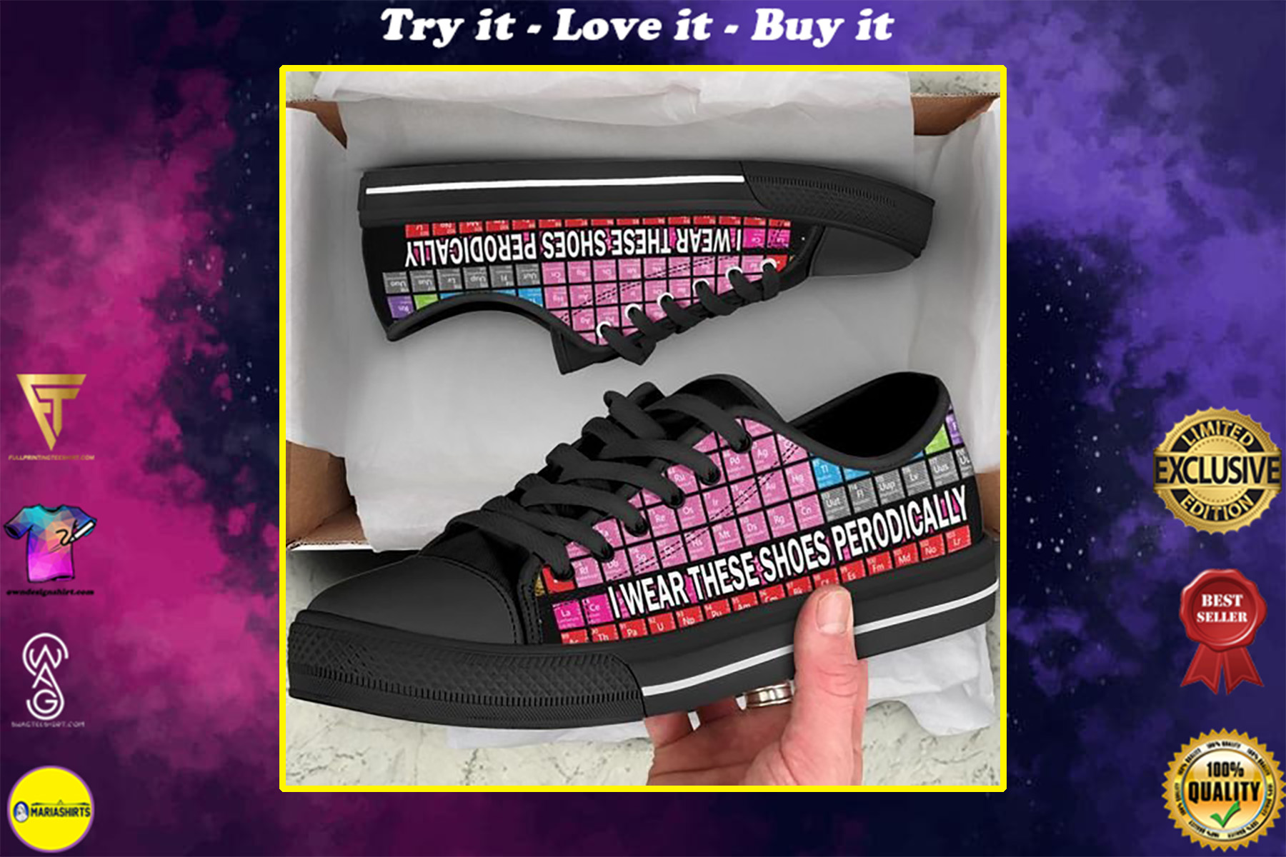 periodic table i wear these shoes periodically low top shoes