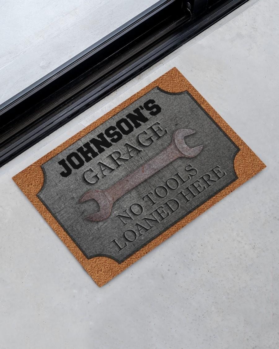 personalized auto mechanic metal garage no tools loaned here full printing doormat 2