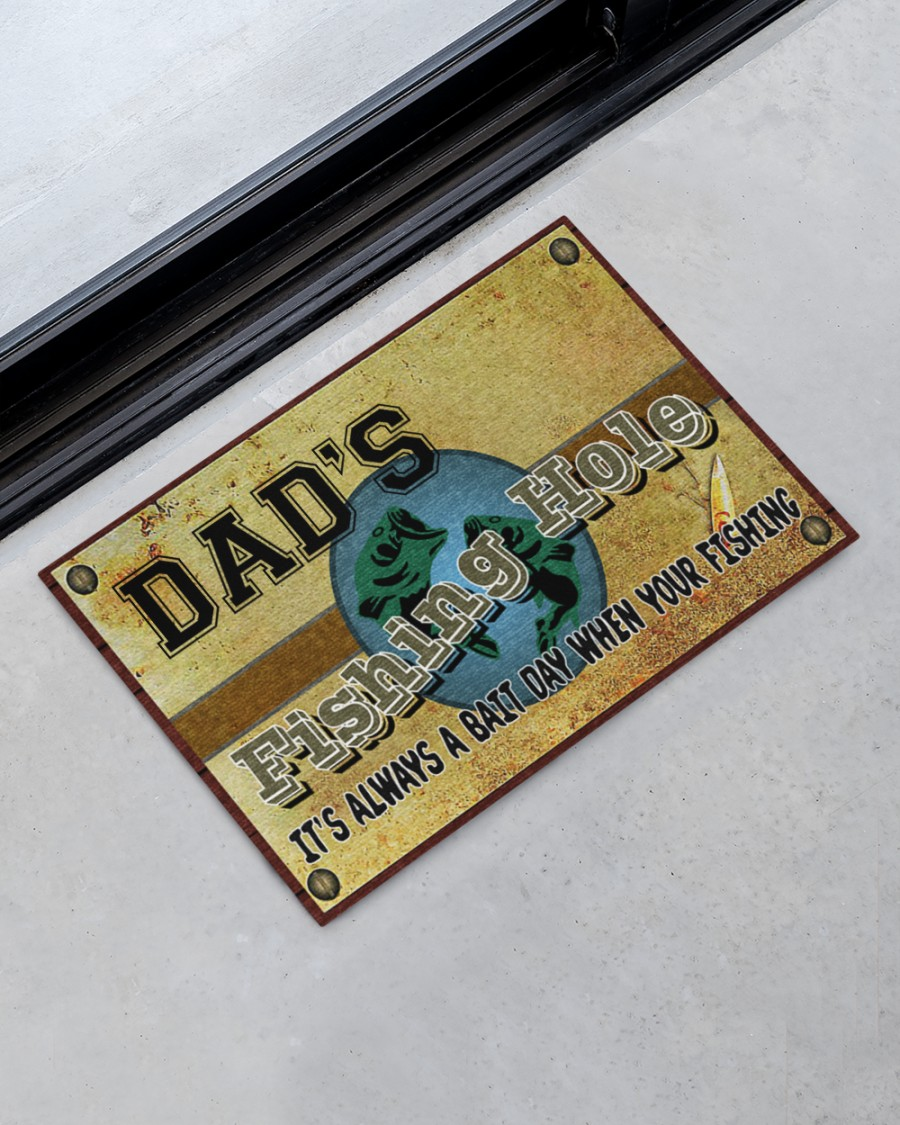 personalized fishing hole its always a bait day when your fishing full printing doormat 2