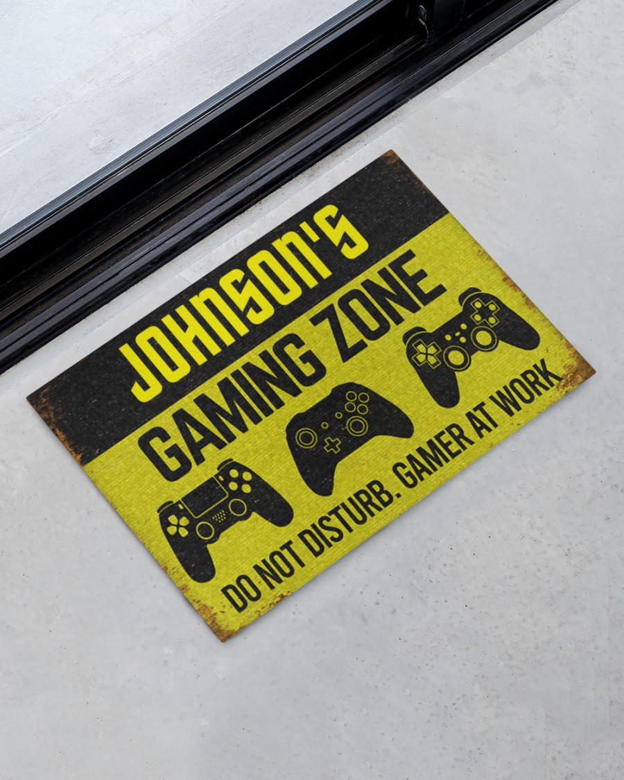 personalized gaming zone do not disturb gamer at work full printing doormat 4