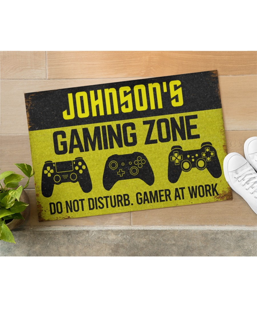personalized gaming zone do not disturb gamer at work full printing doormat 5