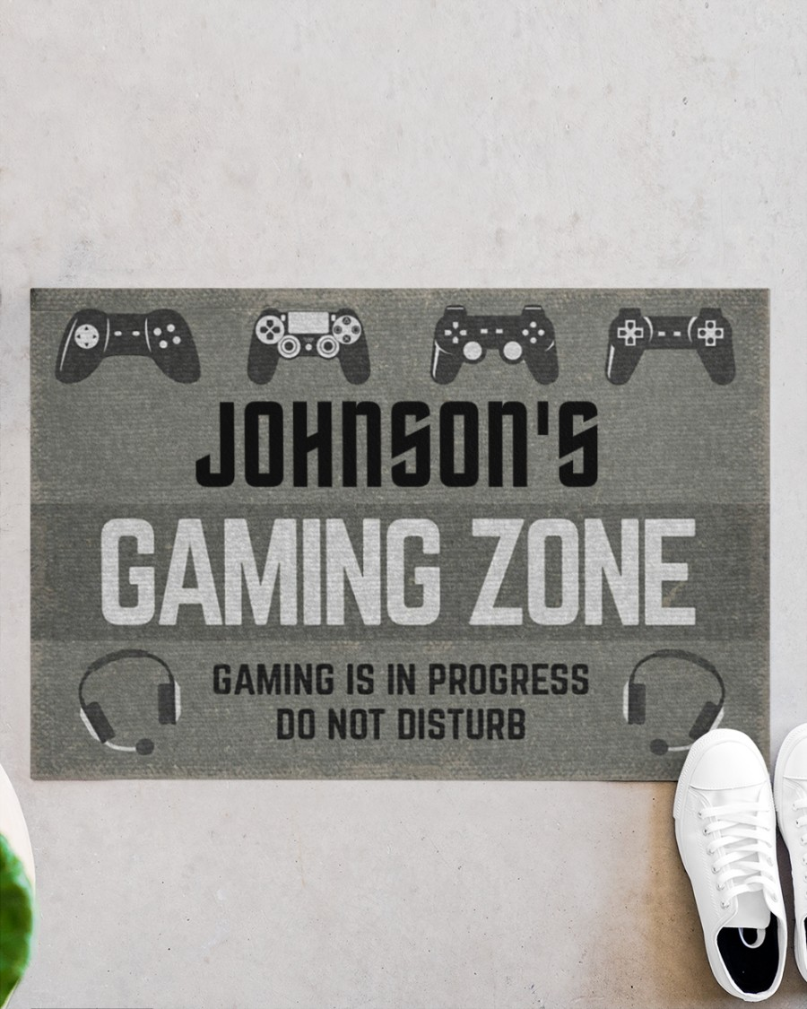 personalized gaming zone gaming is in progress do not disturb full printing doormat 2