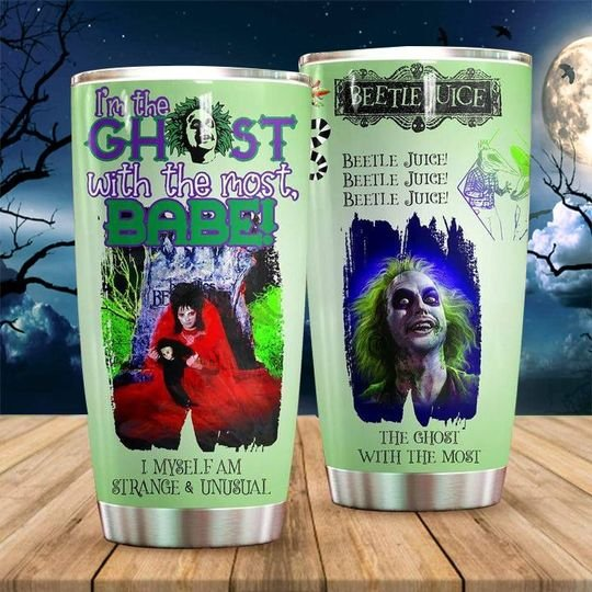personalized name the ghost with the most beetlejuice tumbler 1