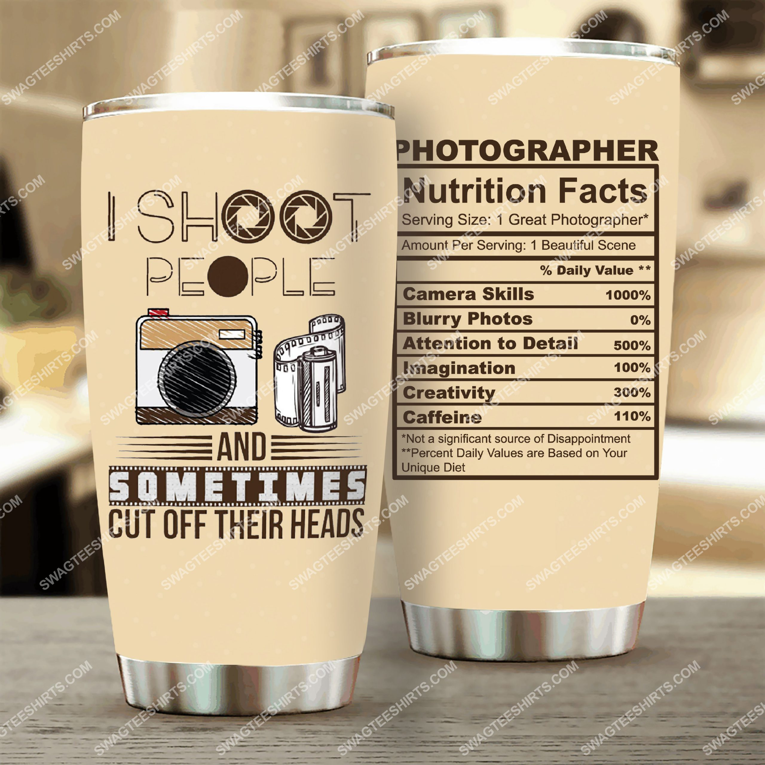 photographer i shoot people all over printed stainless steel tumbler 2(1) - Copy
