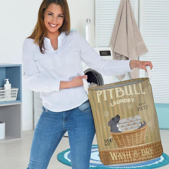 pitbull wash and dry all over print laundry basket 3