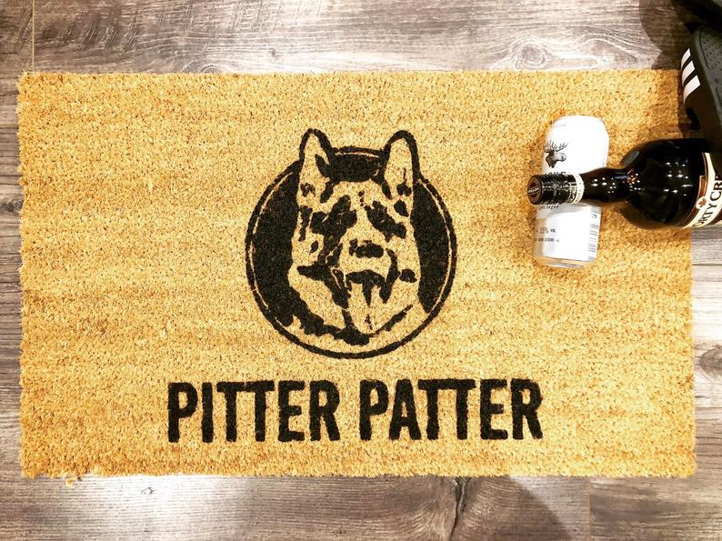 pitter patter dog lover all over printed doormat 2