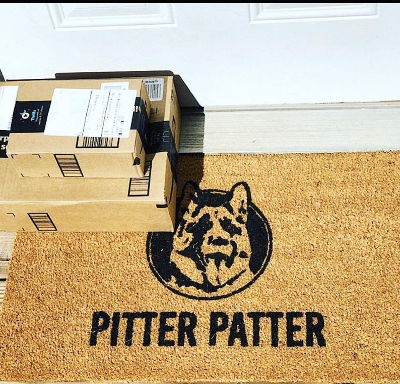 pitter patter dog lover all over printed doormat 5