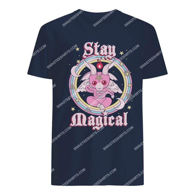 rainbow unicorn stay magical satanic halloween tshirt 1