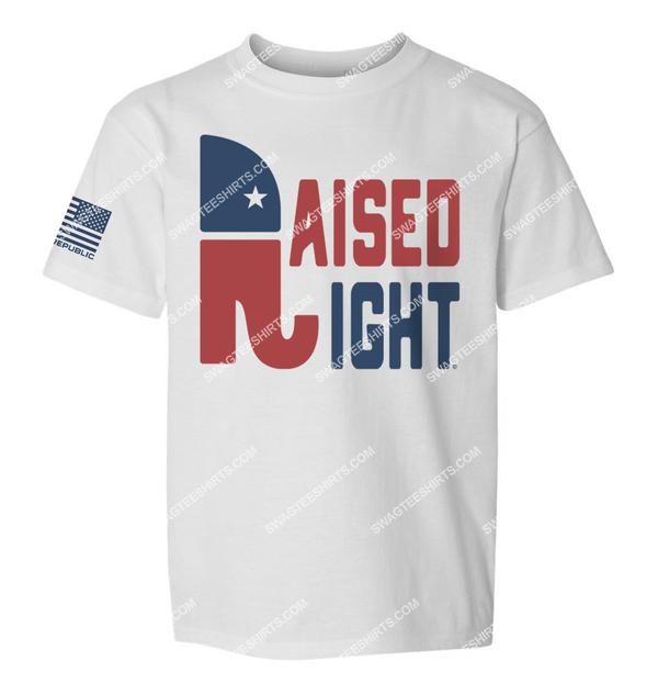 raised right republican elephant political full print shirt 2
