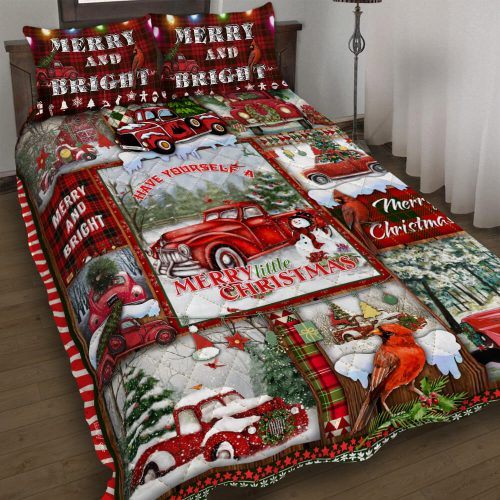 red truck have yourself a merry little christmas bedding set 3