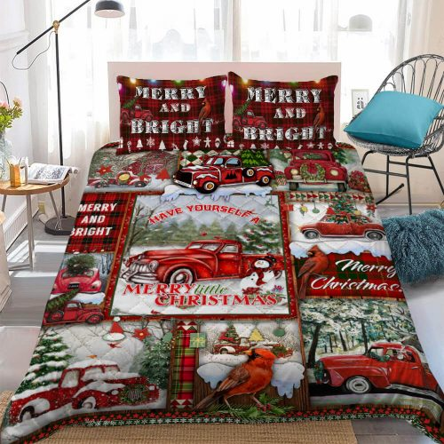 red truck have yourself a merry little christmas bedding set 4