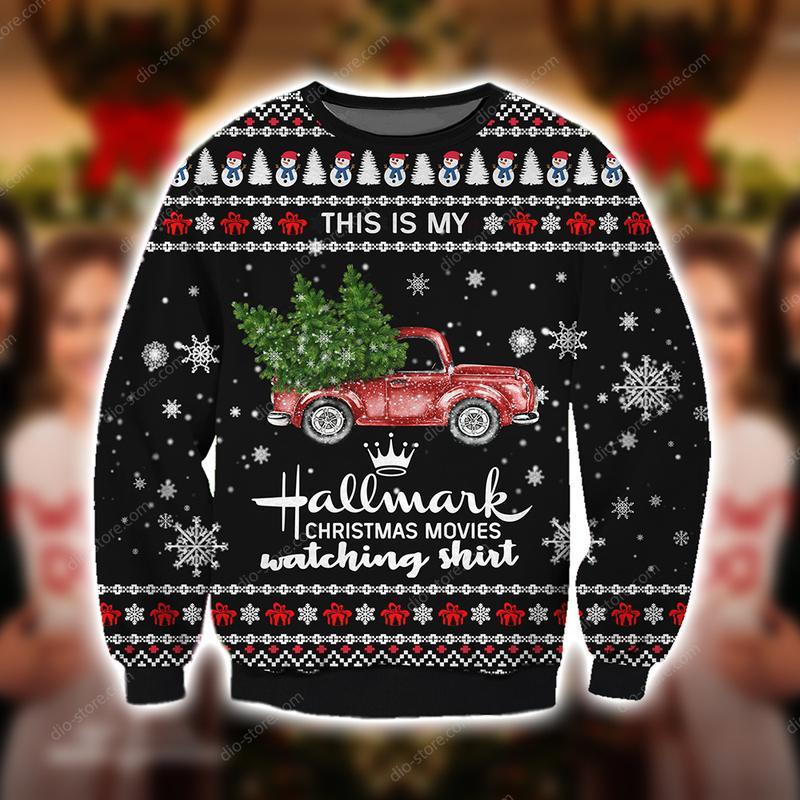 red truck this is my hallmark christmas movie watching ugly christmas sweater 4