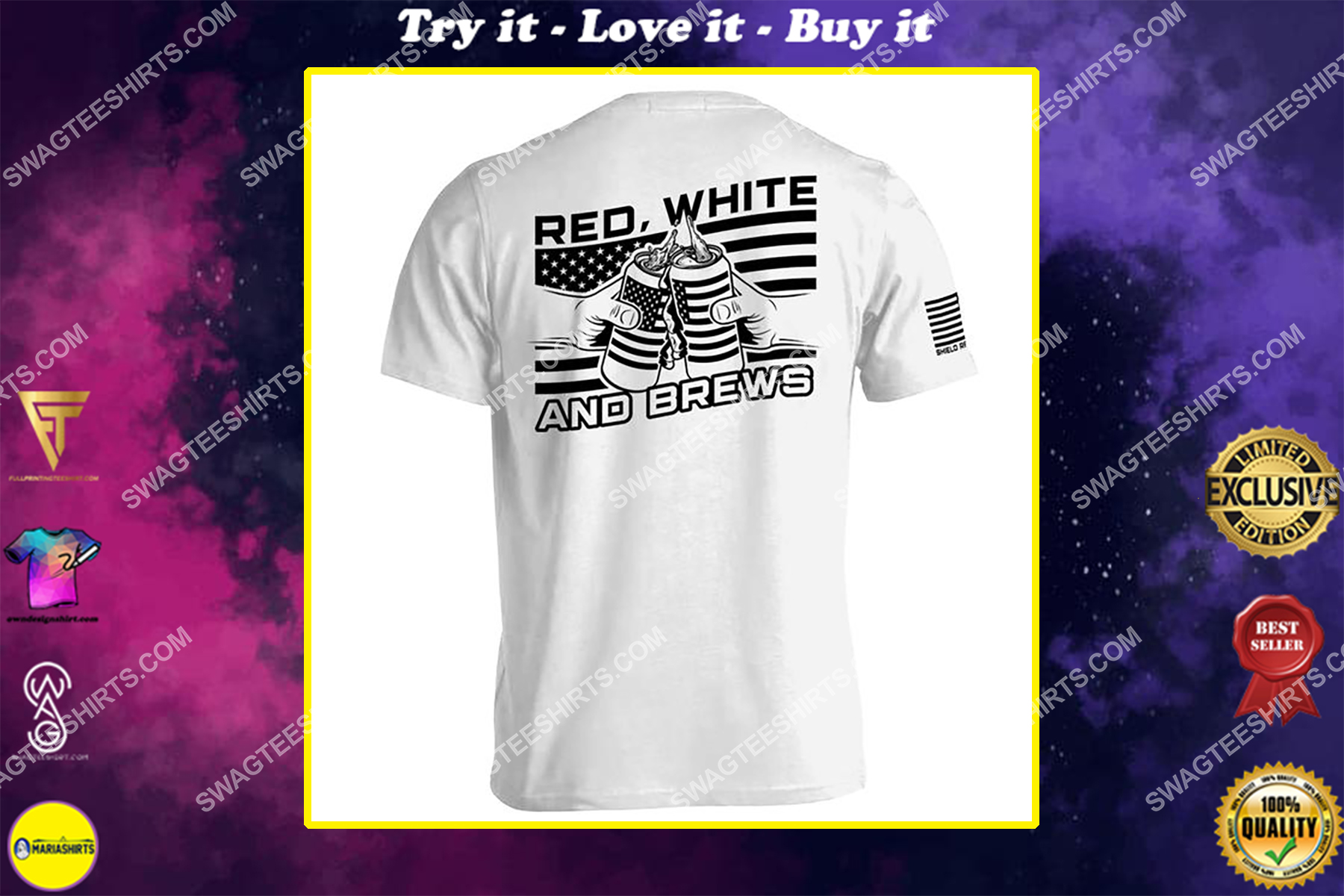 red white and brews happy independence day shirt