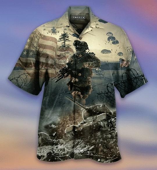remember the day veteran american all over printed hawaiian shirt 2