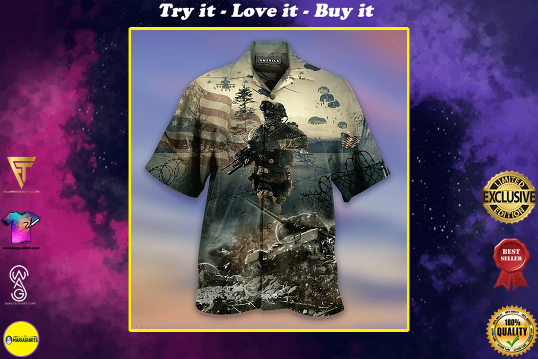 remember the day veteran american all over printed hawaiian shirt