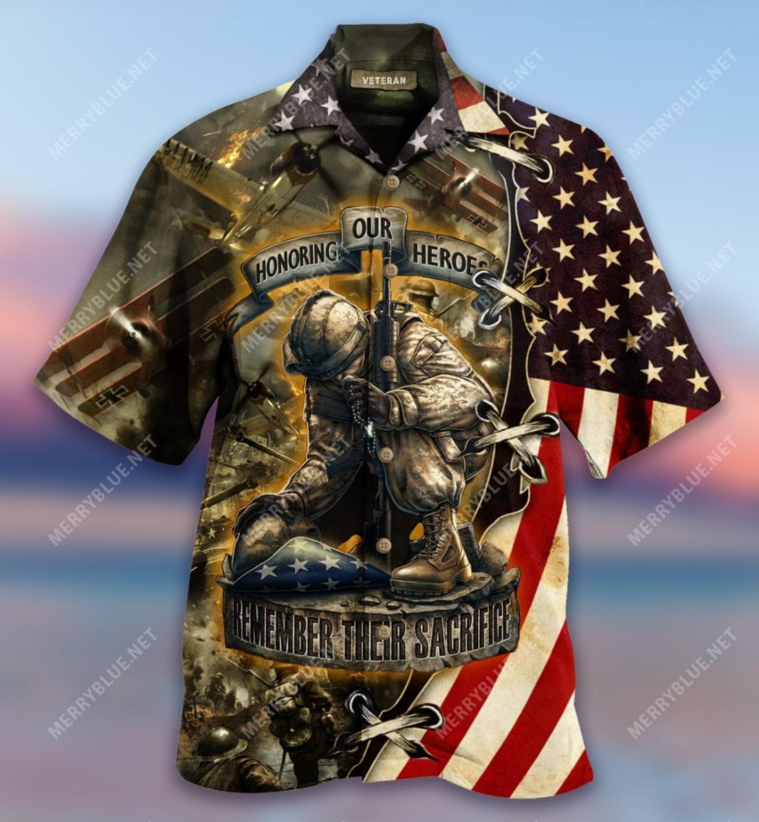 remember their sacrifice veteran all over printed hawaiian shirt 4