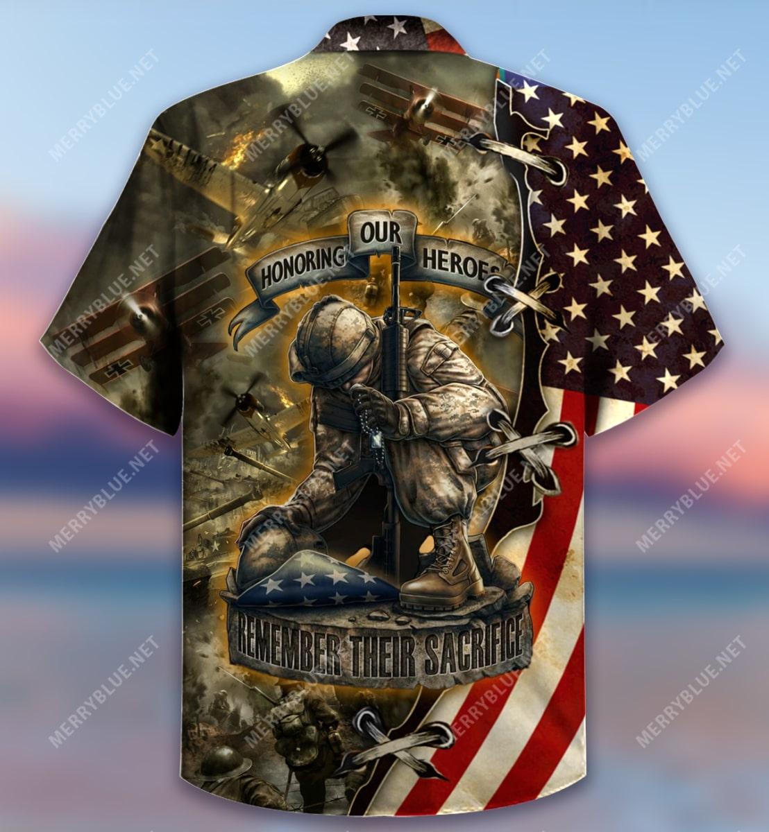 remember their sacrifice veteran all over printed hawaiian shirt 5