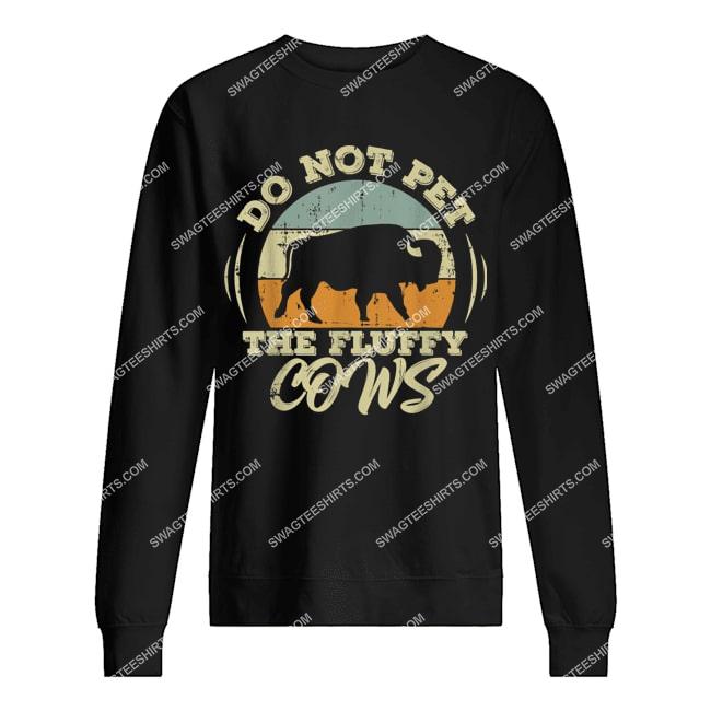 retro do not pet the fluffy cows vintage bison hunt sweatshirt 1