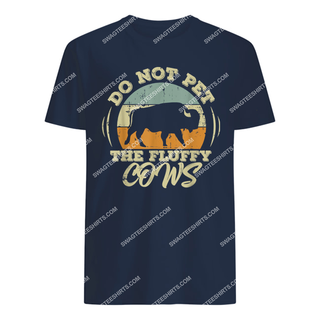 retro do not pet the fluffy cows vintage bison hunt tshirt 1