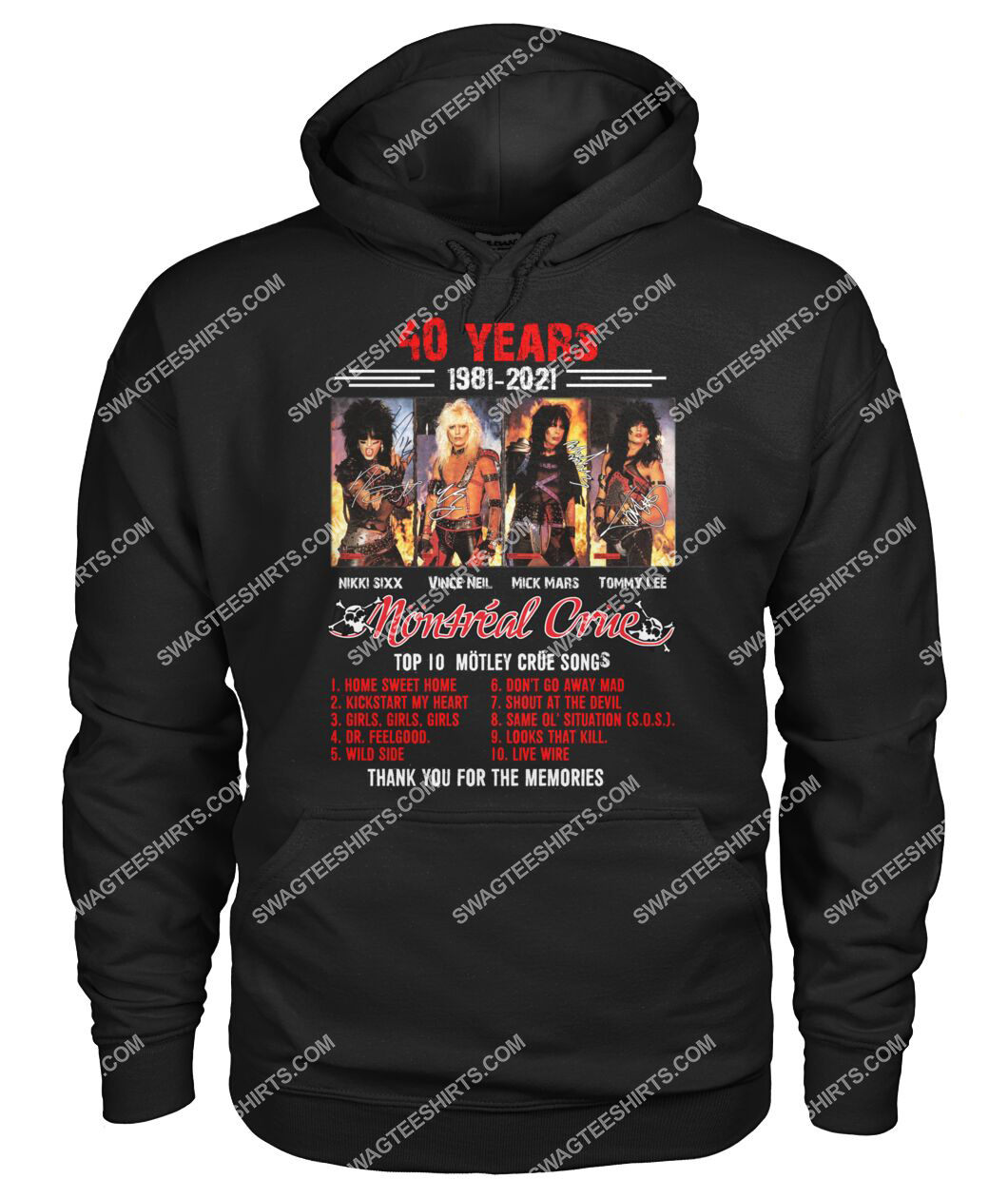 rock band motley crue 40 years thank you for memories signature hoodie 1