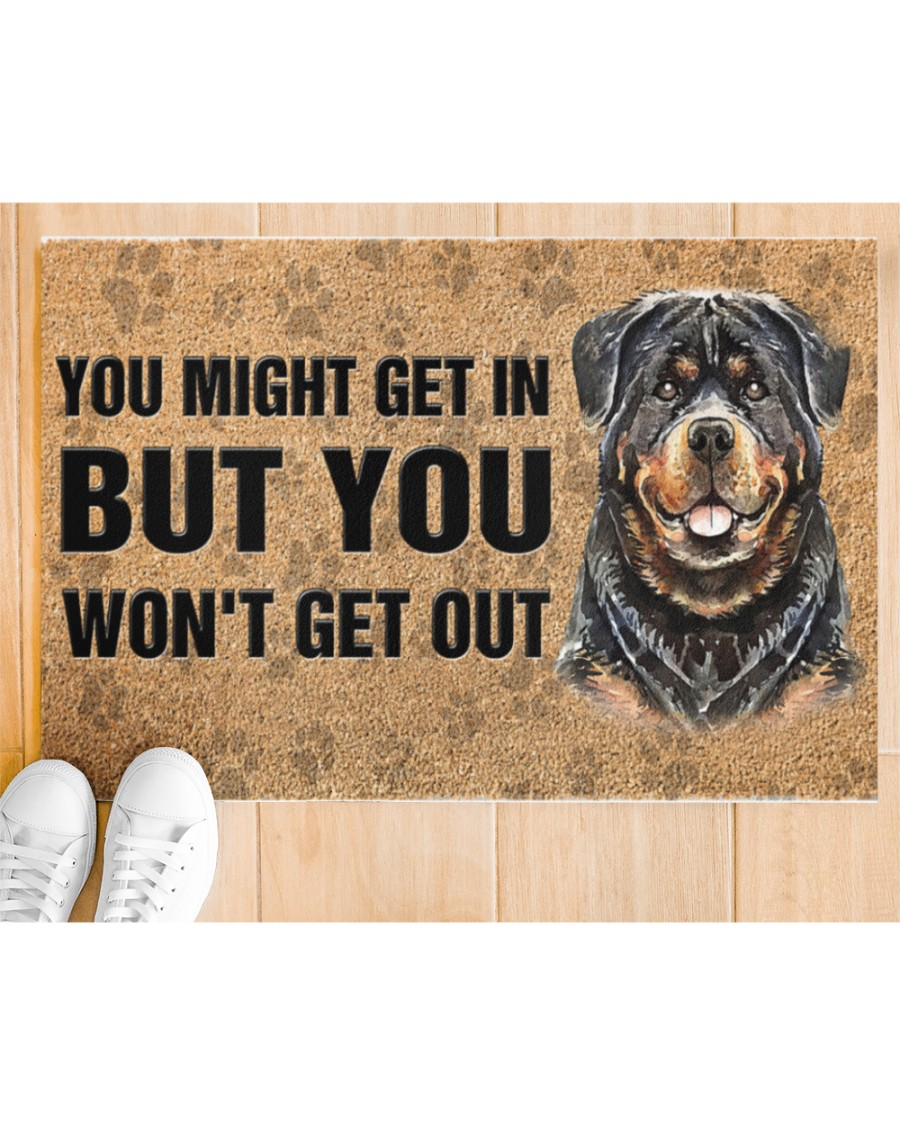rottweiler you might get in but you wont get out full printing doormat 3
