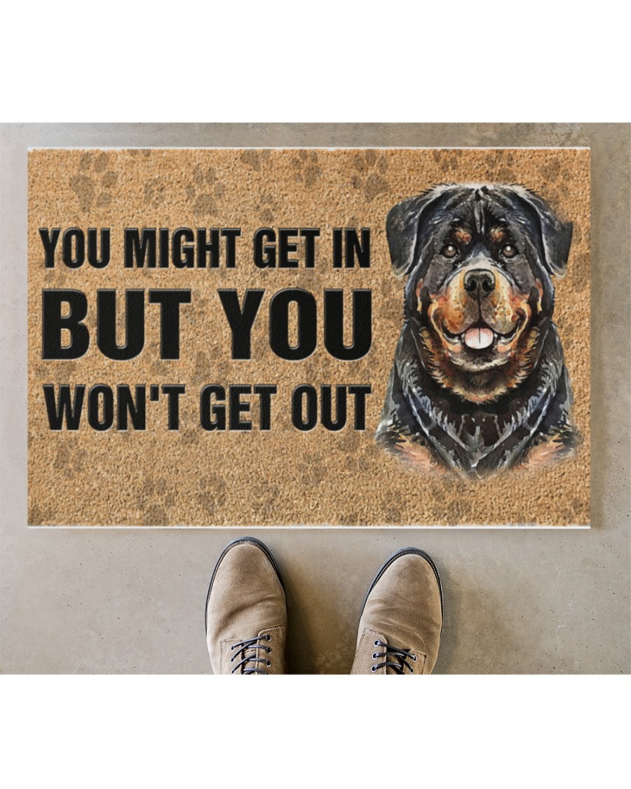 rottweiler you might get in but you wont get out full printing doormat 4
