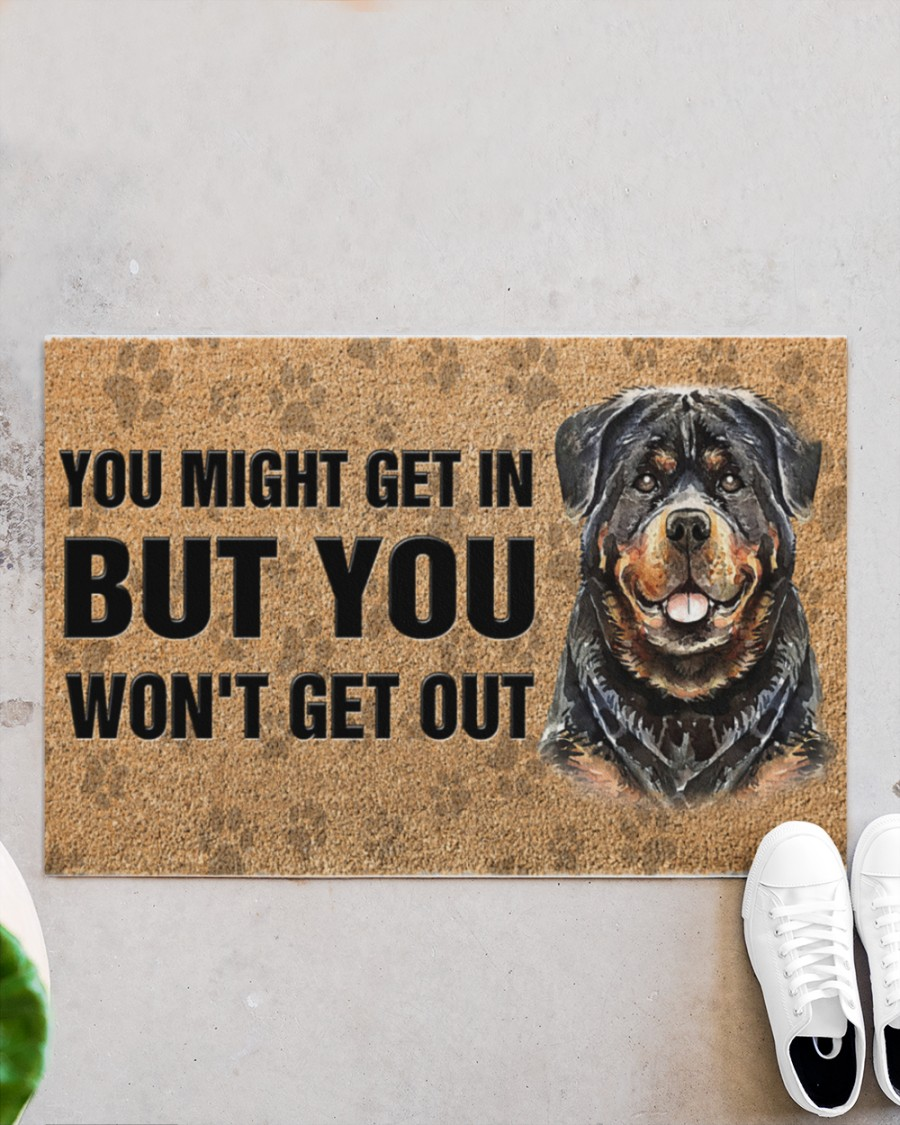 rottweiler you might get in but you wont get out full printing doormat 5