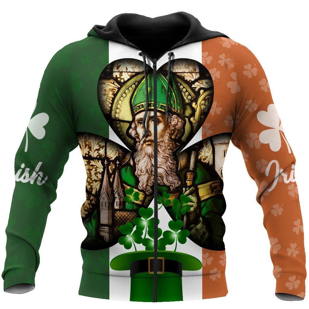 saint patricks day baptist full printing zip hoodie