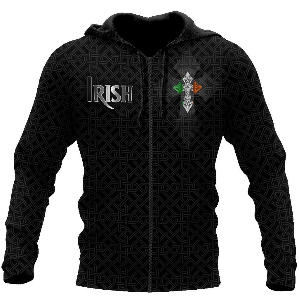 saint patricks day im irish not because i was born in ireland full printing zip hoodie