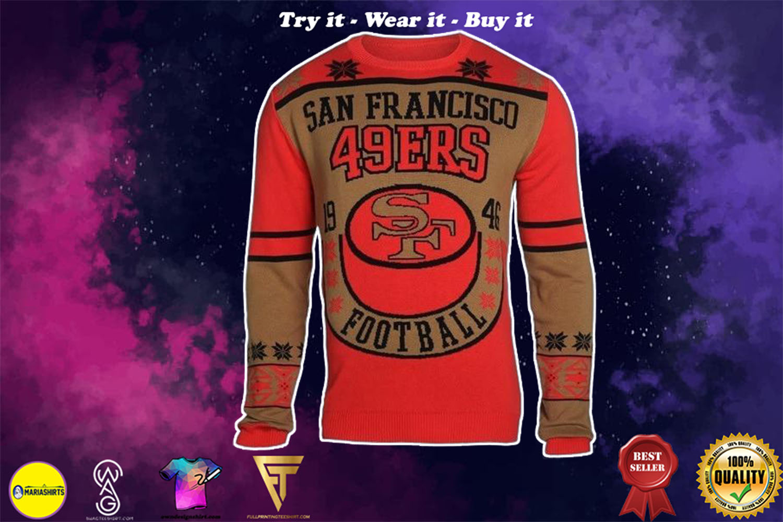 san francisco 49ers holiday ugly christmas sweater