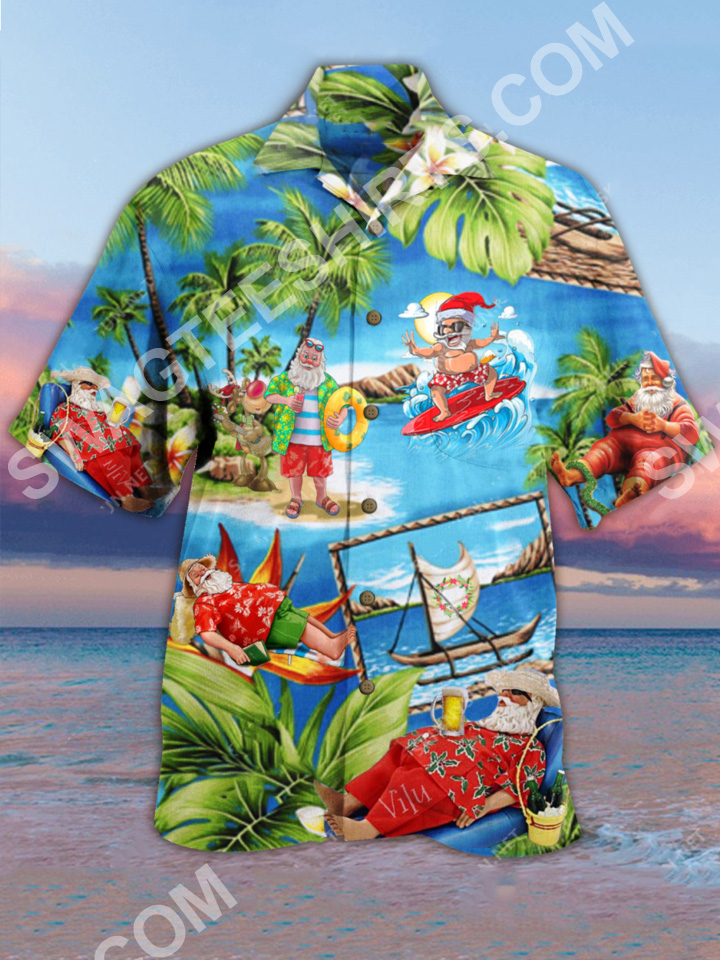 santa surfing all over printed hawaiian shirt 2(1)