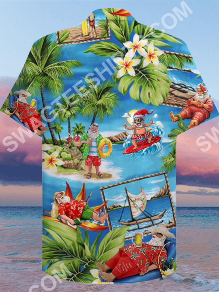 santa surfing all over printed hawaiian shirt 3(1)