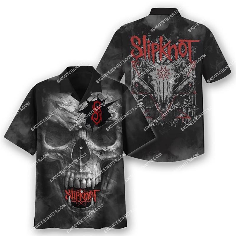 satanic skull slipknot full print hawaiian shirt 2(1) - Copy