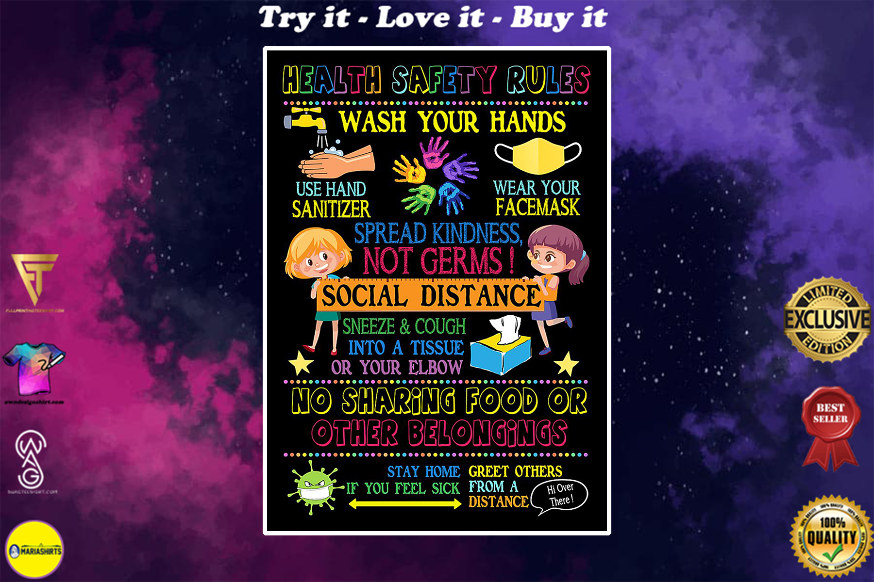 school health safety rules poster