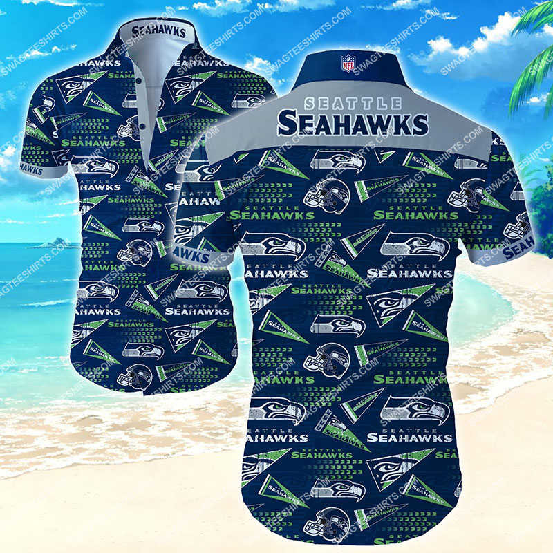 seattle seahawks football team all over print hawaiian shirt 2 - Copy