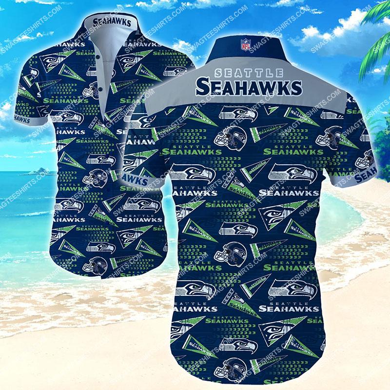 seattle seahawks football team all over print hawaiian shirt 2