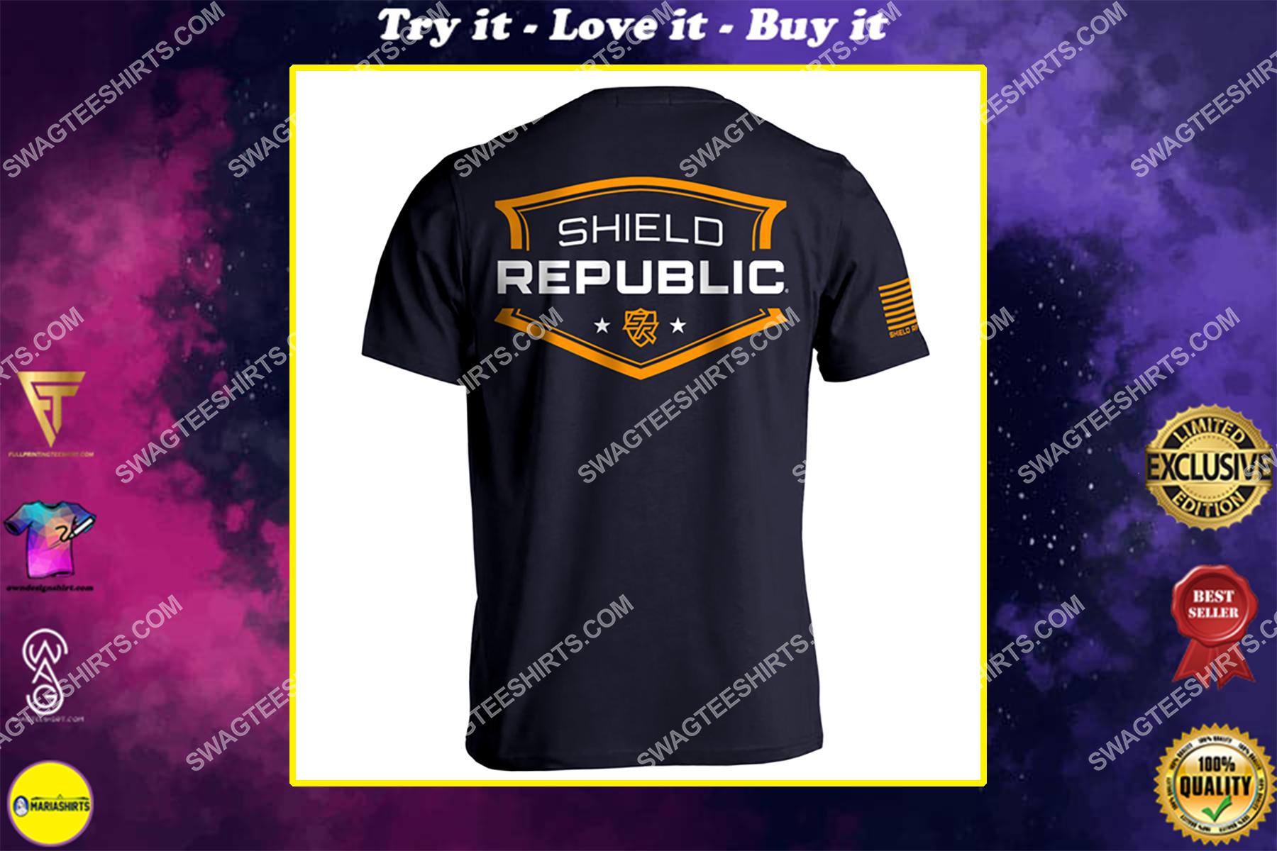 shield republic badge political full print shirt