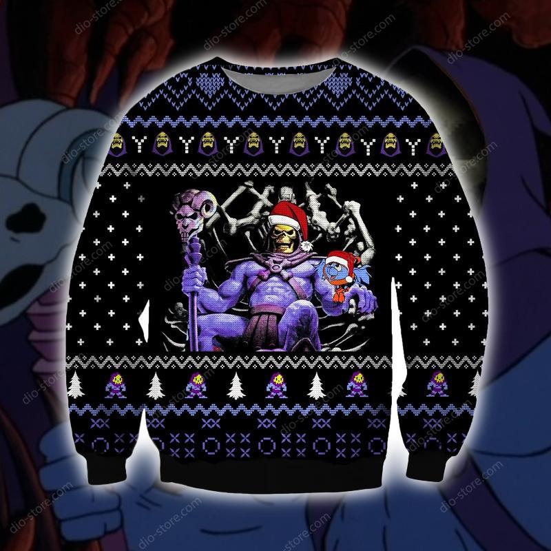 skeletor he-man ugly christmas sweater 2