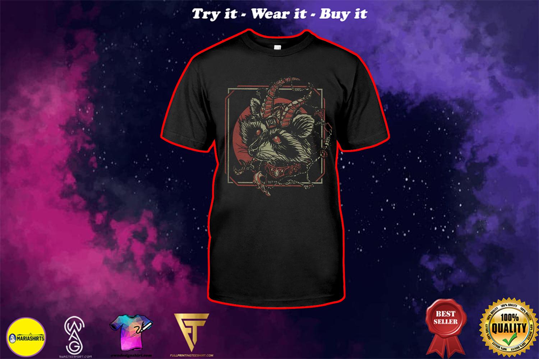skull gothic raccoon satan shirt