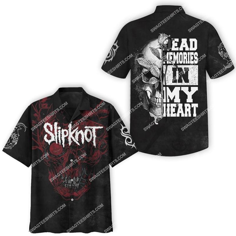 slipknot rock band dead memories in my heart full printing hawaiian shirt 3(1)