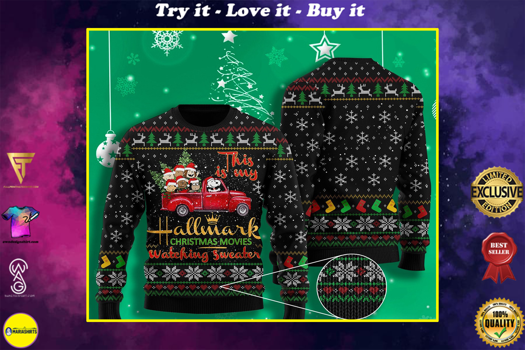 snoopy this is my hallmark christmas movie watching ugly christmas sweater