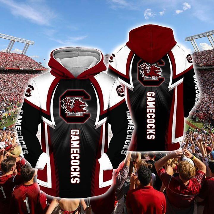 south carolina gamecocks football full over printed hoodie 1