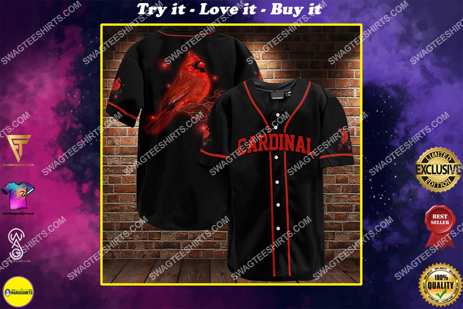 st louis cardinals full printing baseball shirt