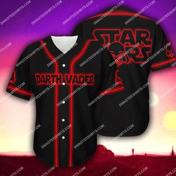 star wars darth vader full printing baseball shirt 1