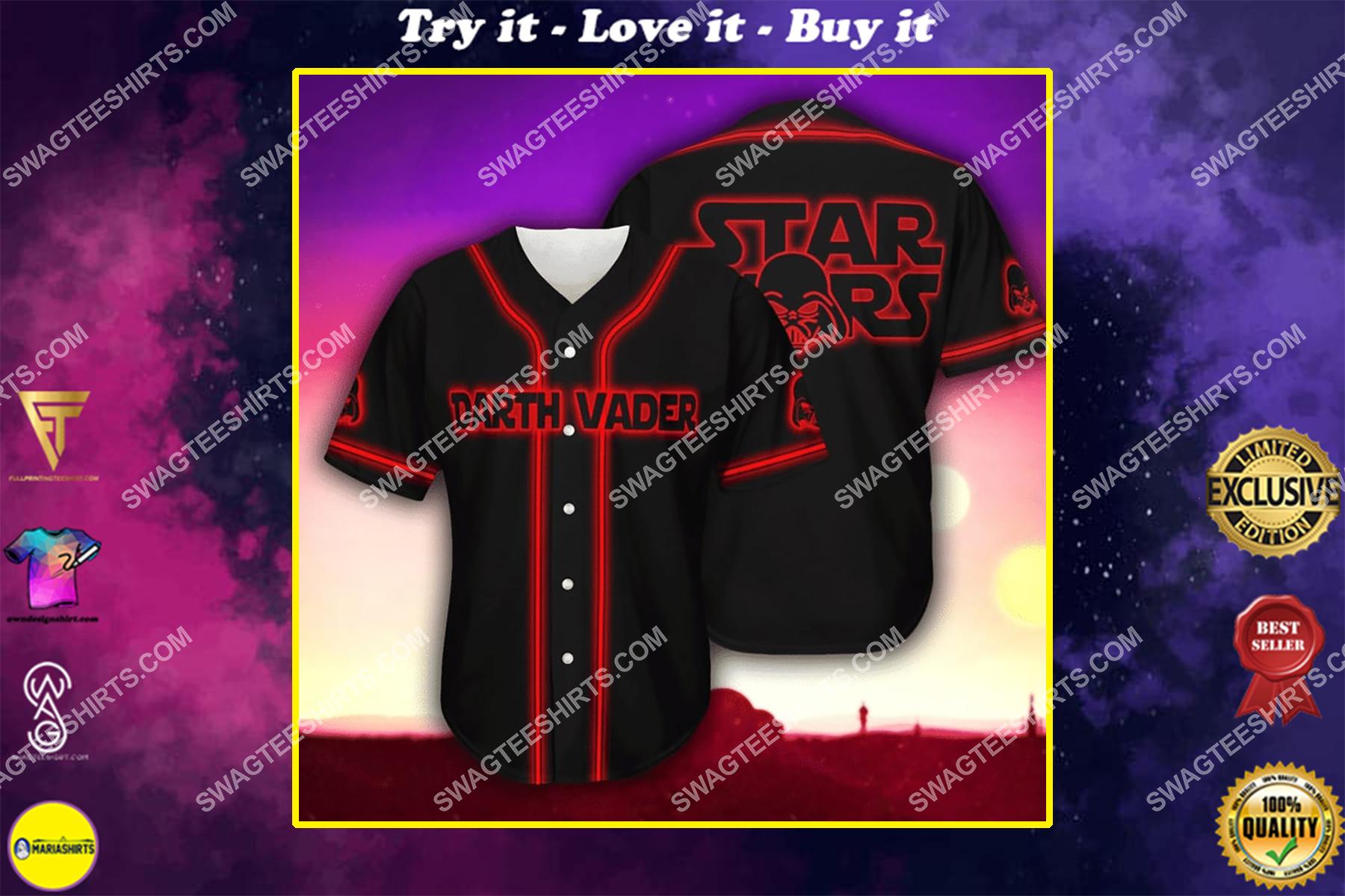 star wars darth vader full printing baseball shirt